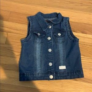 18 month girls jean vest